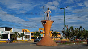 View of the town of Loreto in the Ecuadorian Amazon. Ecuador Royalty Free Stock Photography