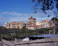 View of town, Massa Lubrense, Italy. Stock Photos