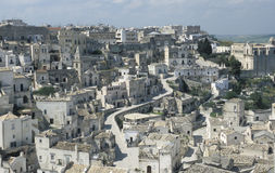 View of the town of Matera, Italy Royalty Free Stock Photography