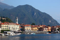 View of town Menaggio on lake Como in Italy stock photography