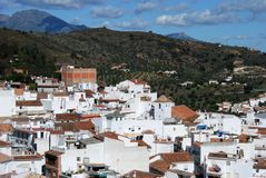 View of town, Monda, Spain. Royalty Free Stock Images