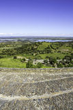 View from town of Monsaraz, on the right margin of the Guadiana Royalty Free Stock Photos