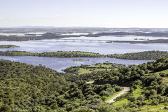 View from town of Monsaraz, on the right margin of the Guadiana Royalty Free Stock Photo