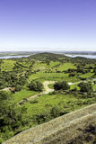 View from town of Monsaraz, on the right margin of the Guadiana Royalty Free Stock Photography