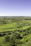 View from town of Monsaraz, on the right margin of the Guadiana Stock Photo