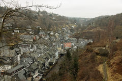 View of the town of Monschau, Eifel, Germany Stock Photography