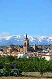 View of town and mountains, Guadix, Spain. Stock Photos
