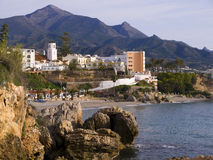 View of the town of Nerja Spain Stock Image