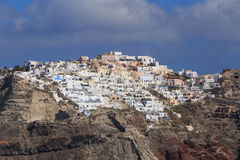 View on town Oia on Santorini Stock Photography