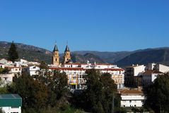 View of town, Orgiva, Andalusia, Spain. Stock Photography