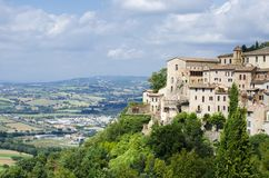 View from the town of Orvieto Royalty Free Stock Images