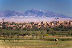 View of the town of Ouarzazate Stock Photography