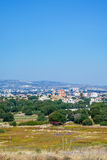 View of the town of Paphos from the Archaeological park. Royalty Free Stock Image