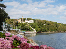 View on the town of Portmeirion Stock Photo