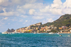 View of Town Portovenere from Sea, Italy Royalty Free Stock Photography