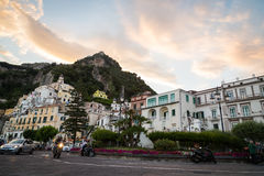View of the town of Positano Stock Image
