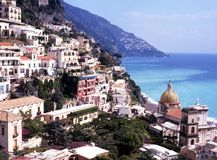 View of town, Positano, Italy. Stock Photo