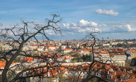View of town from Prague castle Royalty Free Stock Photo