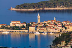 View of the town of Rab, Croatian tourist resort. Stock Photo