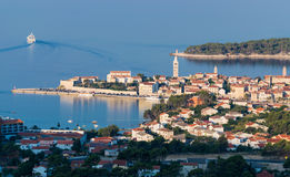 View of the town of Rab, Croatian tourist resort. Stock Images