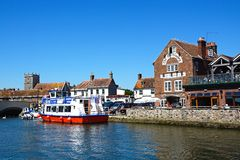 View of the town and river, Wareham. Stock Photo