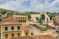 View of the town roofs and square. Trinidad, Cuba. Royalty Free Stock Photography