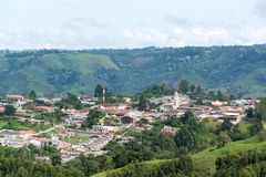 View of Salento, Colombia Royalty Free Stock Images
