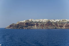 View on town of Santorini Royalty Free Stock Image