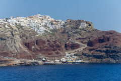 View on town of Santorini Royalty Free Stock Photography
