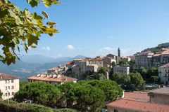 View of the Corsican town of Sartene Stock Images