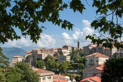 View of the Corsican town of Sartene Royalty Free Stock Images