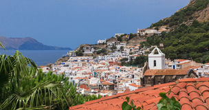 View of the town and sea. Stock Photography
