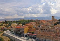 View at a town in Southern Europe Royalty Free Stock Photography