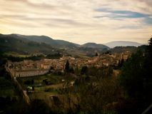 View of the town of Spoleto Royalty Free Stock Photography