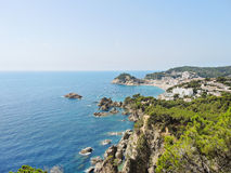 View of town Tossa de Mar, Catalonia, Spain Royalty Free Stock Image