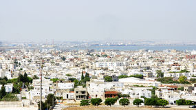 View of a town in Tunisia Royalty Free Stock Image