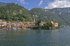 View of the town of Varenna, Italy. Stock Images