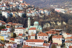 View from town Veliko Tarnovo in Bulgaria Stock Photography