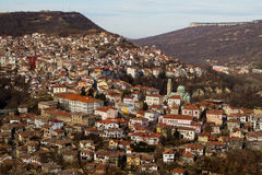 View from town Veliko Tarnovo in Bulgaria royalty free stock photography