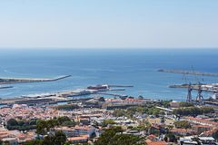 View of the town of Viano do Castelo from the Sanctuary of Santa. Luzia Royalty Free Stock Photography