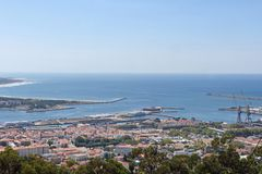 View of the town of Viano do Castelo from the Sanctuary of Santa Stock Photos