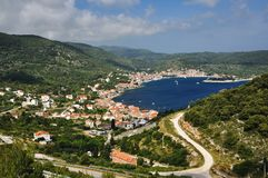 View of the town of Vis Stock Photo