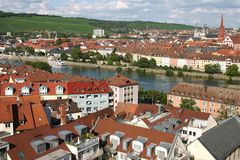 View on the town  Würzburg Stock Photography