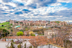 View at the Town walls of Avila - Spain stock photo