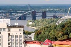 View of the town from the window of the Hotel `Ukraina`. Kiev, Ukraine, 2011.08.18. stock photo