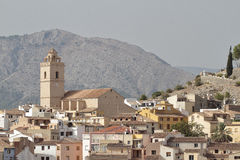 View of the township of polop de la marina Royalty Free Stock Image