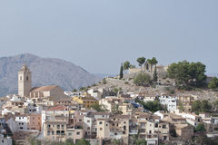 View of the township of polop de la marina Stock Photography