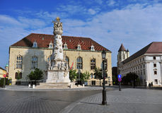 View of the townsquare of Buda old town Stock Photo