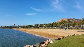 Australia Townsville beach front view royalty free stock photo