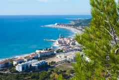 View towrads Sitges Stock Image